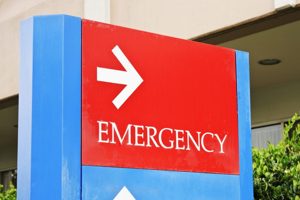 Emergency room sign -- Diabetes Common in Serious Coronavirus Cases: CDC
