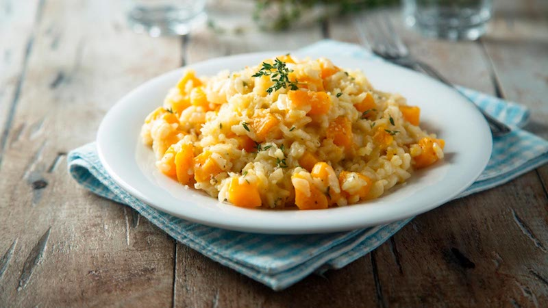 Risotto With Yellow Squash and Peas